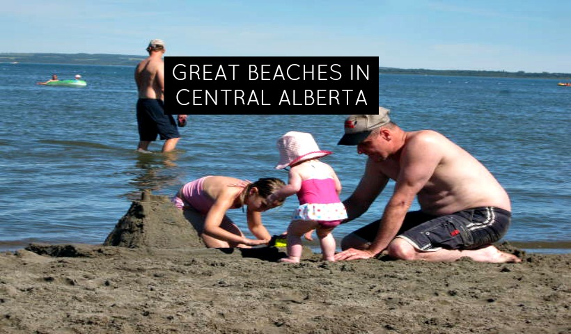 Great Lakes with Great Beaches in Central Alberta