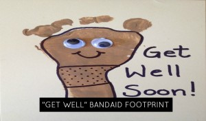 Get Well Bandaid Footprint Craft