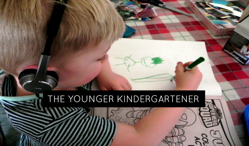 The Younger Kindergartener (to be)