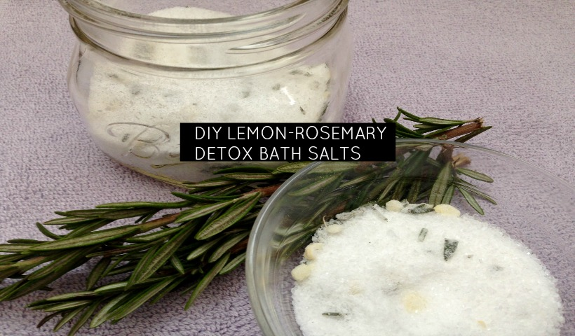 Lemon Rosemary Detox Bath Salts