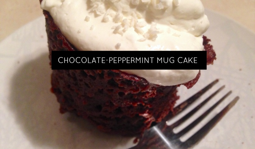 Chocolate-Peppermint Mug Cake