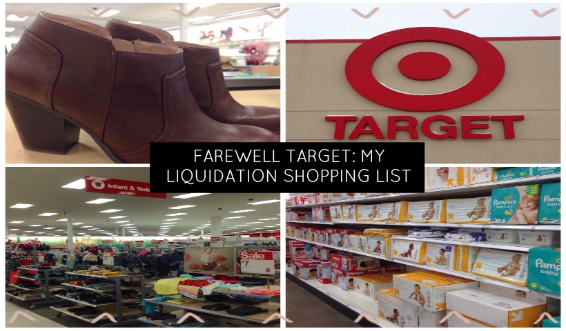 Farewell Target: My Liquidation Shopping List