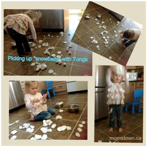 Indoor Winter Fun for Toddler: DIY Snowstorm